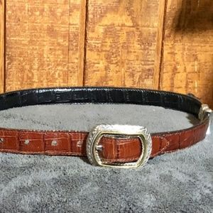 Brighton Brown & Black Reversible Belt Size Small